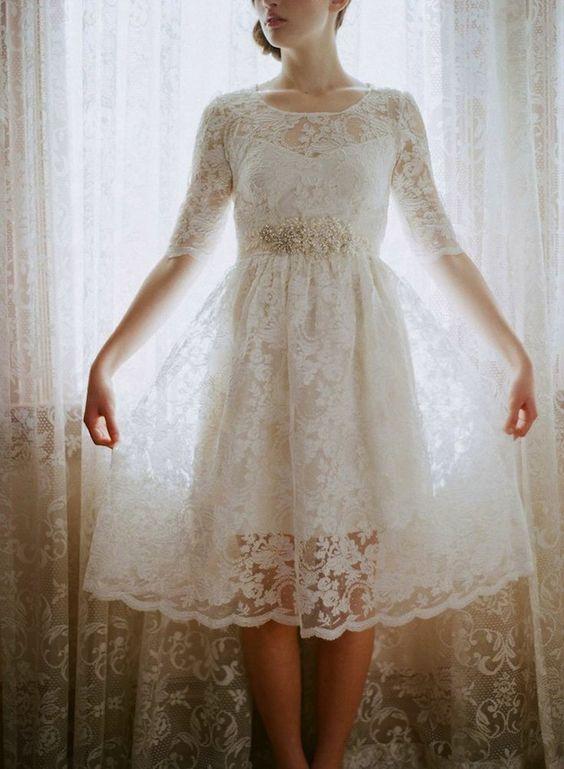 Vestido curto casamento - www.embrevecasadinhos.com.br