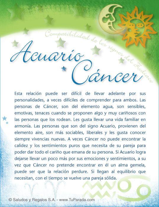 Acuario Acuario Acuario Y Cancer Signos Del Zodiaco Imagenes