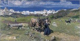 Giovanni Segantini - Frühling in den Alpen