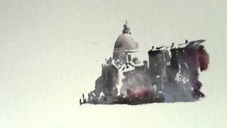 How to paint a Watercolour/watercolor Venetian sketch by Trevor Waugh, via YouTube.
