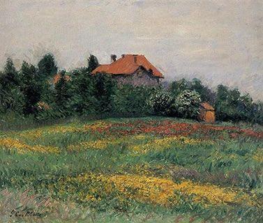 Norman Landscape, Gustave Caillebotte, 1884