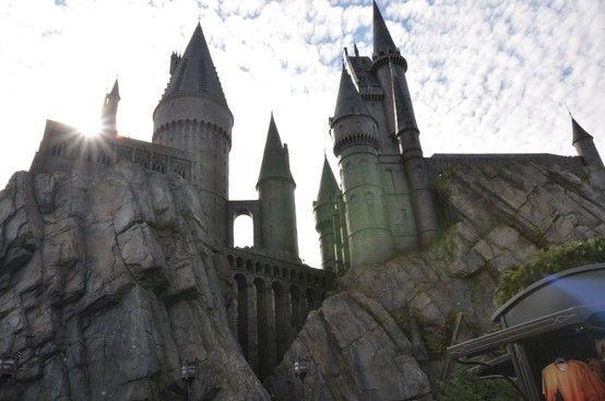 Hogwarts castle at Harry Potter World, Universal Studios Islands of Adventure, FL must-love-harry-potter