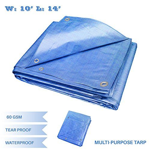 E K Sunrise 10 X 14 Finished Size General Multi Purpose Tarpaulin 5 Mil Poly Tarp Blue Neret 1 Tarpaulin Roofing Materials Sunrise
