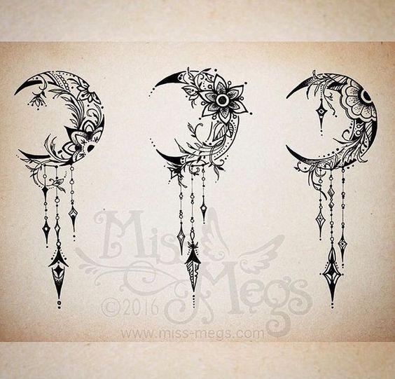 Crescent Moon Tattoos On Pinterest Moon Tattoo Designs Moon Tattoos Moon Tattoo Designs Feather Tattoos Moon Tattoo