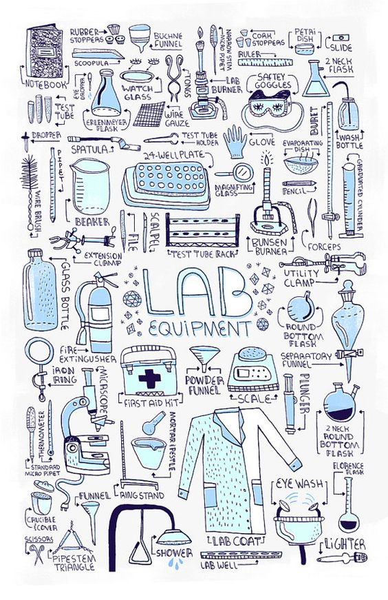 LAB EQUIPMENT  Poster by Rachelignotofsky on Etsy