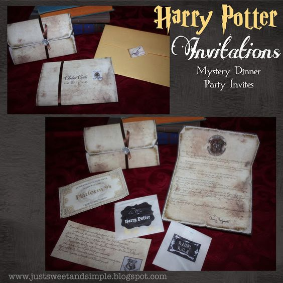 just Sweet and Simple: Harry Potter Mystery Dinner Party -- Oooh, a grown-up HP party with free printables & ideas?!? Awesome.  (Maybe I would share some ideas with my teen.  Maybe.)