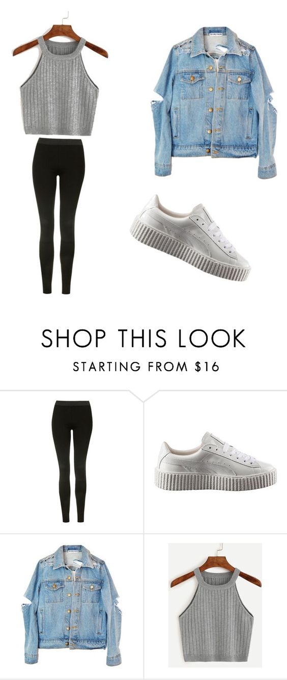 """""""#Outerwear #Puma"""" by jjjjalz ❤ liked on Polyvore featuring Topshop and Puma"""