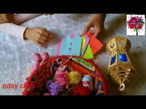 سلسله افكار لزينه رمضان Youtube Easy Crafts Crafts Ramadan