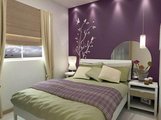 Cores de tintas para pintar quarto de casal For the Home  ~ Cores Para Pintar Quarto E Sala