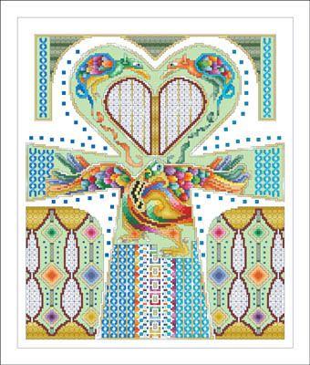 Celtic Love Cross - Cross Stitch Pattern