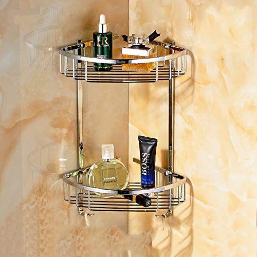 Shower Shelf Corner 2 Tier Stainless Steel Bathroom Shower Shelf Triangle Corner Shelves A Bathroom Furniture Storage Shower Cabinets Bathroom Sink Decor