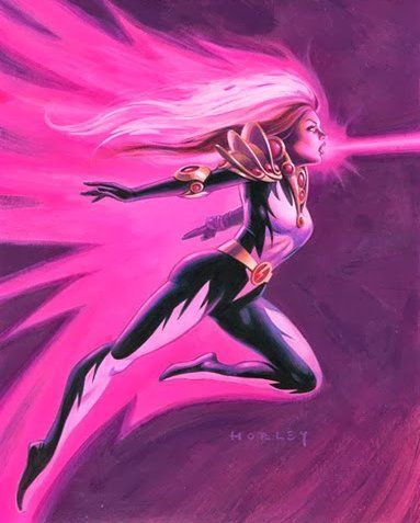 """Songbird (Melissa Joan Gold) (Human/Empowered) (Shoshoni, Wyoming, U.S.A.) Adventurer; former professional criminal, mercenary, wrestler, aspiring singer. Sound Control & Manipulation. Flight (frequently generates a set of solid-sound wings that enable her to fly. Extensive training in hand-to-hand combat. 5' 5"""" tall."""