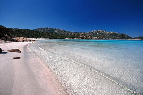 Costa Smeralda is a 34 mile stretch along the northeastern part of Sardinia Island. Many Europeans consider these beaches to be the best in Europe. Emerald melody by LucaPicciau, via Flickr