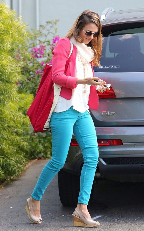 Still looking for some bright blue skinny jeans!! I want some!!