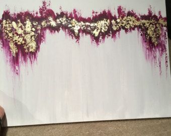 "Ähnliche Artikel wie 48""x60"" Large Canvas Art, Amanda Faubus Gold Leaf Original Painting, Abstract, pink, creme, white, grey, blue, Canvas Art, Urban, Loft, Boho auf Etsy"