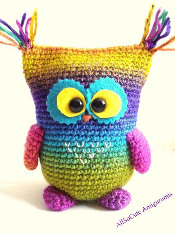 Articles similaires à Crochet Pattern - chouette modèle, téléchargement immédiat, tutoriel de Crochet, Crochet Owl, Owly sur Etsy