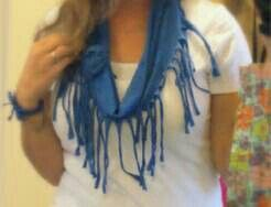 Cool and creative scarf made of a cut up shirt