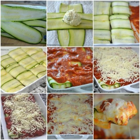 zucchini ravioli step by step: