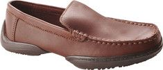 This sophisticated loafer is great for special occasions. It has a fairly versatile moc toe leather design. shoebuy.com