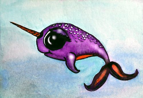 Baby Narwhal Whale Pinterest • The worl...