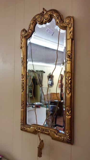 Beveled Glass Gold Mirror $225.00