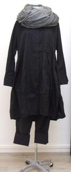 rundholz black label - Ballonkleid Opa Hemd Style black - Winter 2015 - stilecht - mode für frauen mit format...