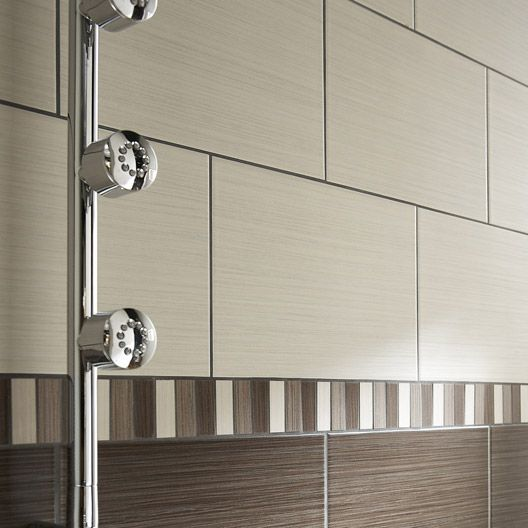 Carrelage salle de bain mural tokyo en fa ence cr me 20 x 30 cm rev tement carrelage for Prix carrelage mural salle de bain