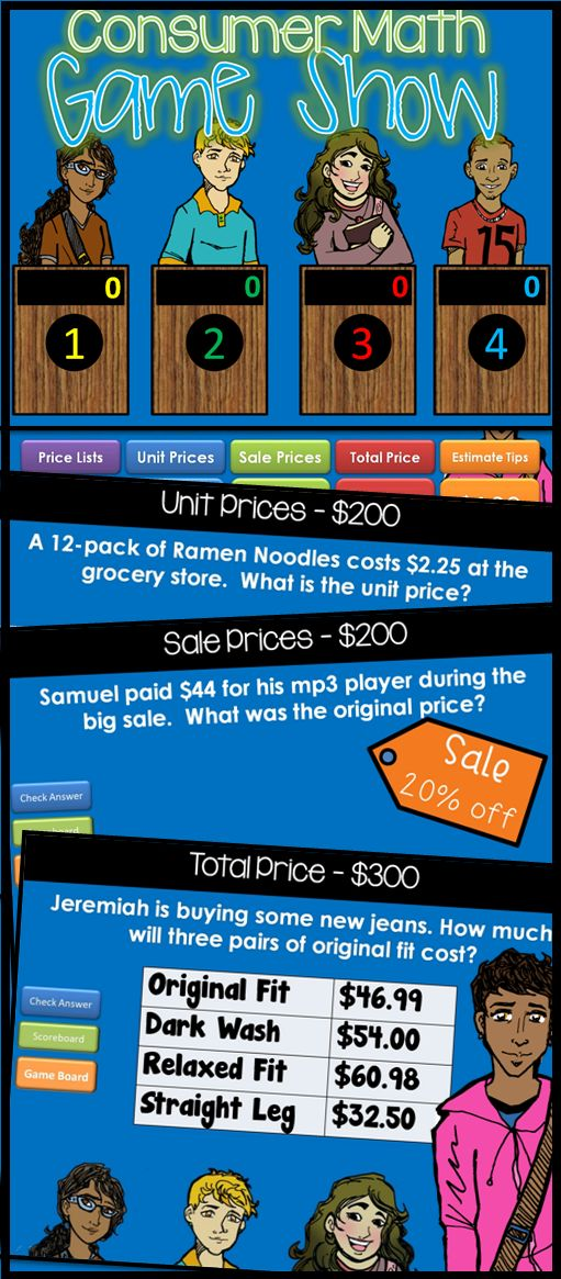 Consumer Math Price list, Math and Fun - sample jeopardy powerpoint