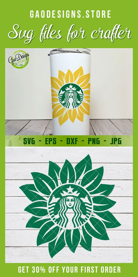 Sunflower Starbucks Coffee Svg File Starbucks Coffee Cutfile Custom Starbucks Logo Silhouette Cricut In 2020 Starbucks Logo Cricut Projects Vinyl Starbucks Art