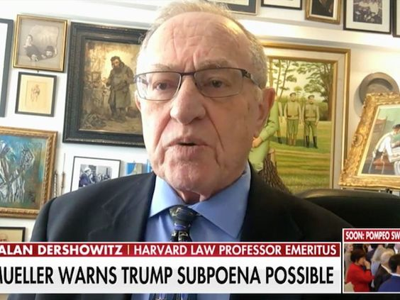 Dershowitz: Trump-Cohen Tape 'Must Be Subjected to Forensic Analysis'1874