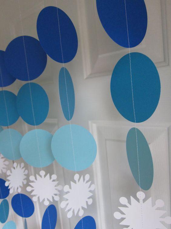 Decoração círculos tons de azul