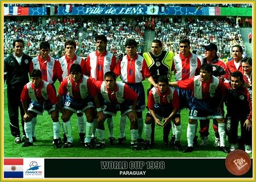 Fan Pictures 1998 Fifa World Cup France Paraguay Team World Cup Fifa World Cup France Fifa World Cup