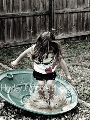 Photography Child Kid Girl Splash Water Rain Jump Puddle Dirty Mud