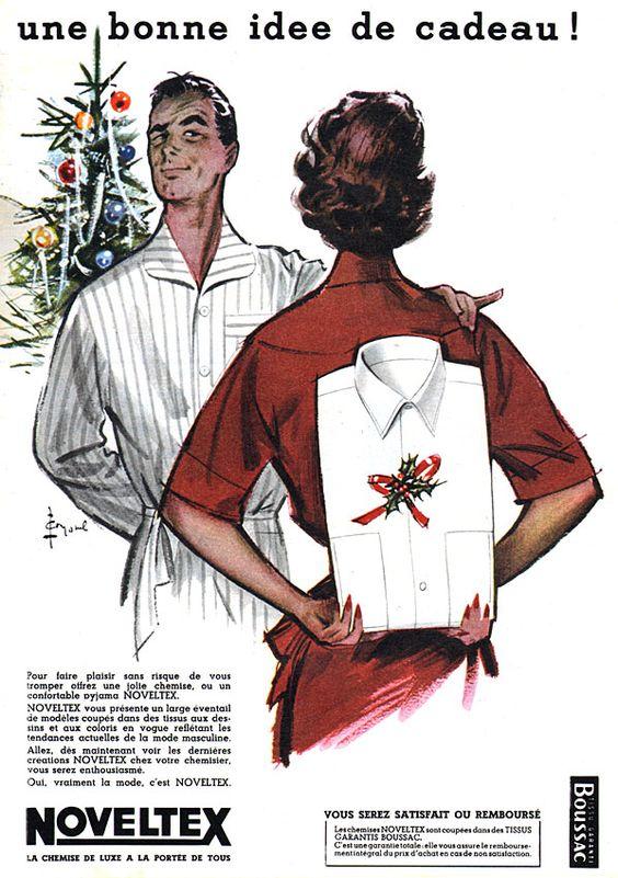 Chéri, habille-toi ! Publicité Noveltex 1956