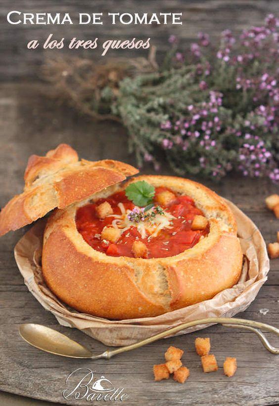 Crema de tomate y pimentón a los tres quesos | Bavette