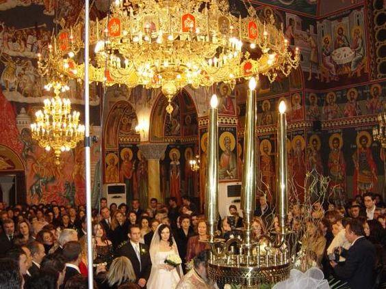 Griekse bruiloft. De kerkelijke inzegening.
