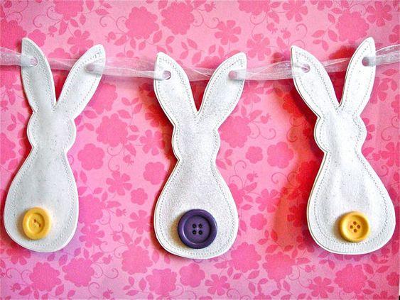 Easter Bunny Garland: