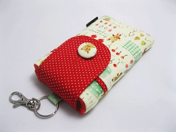 SOLD OUT - Cute Fabric iPhone 5 5s 5c Case iPod 5 gen by KapomCrafts, $16.00