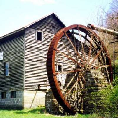 McClung's Mill was moved to it's present location, Zenith, West Virginia, in the early 1900's from Craig County West Virginia.  The mill was used continuously for grinding grain through 1960.