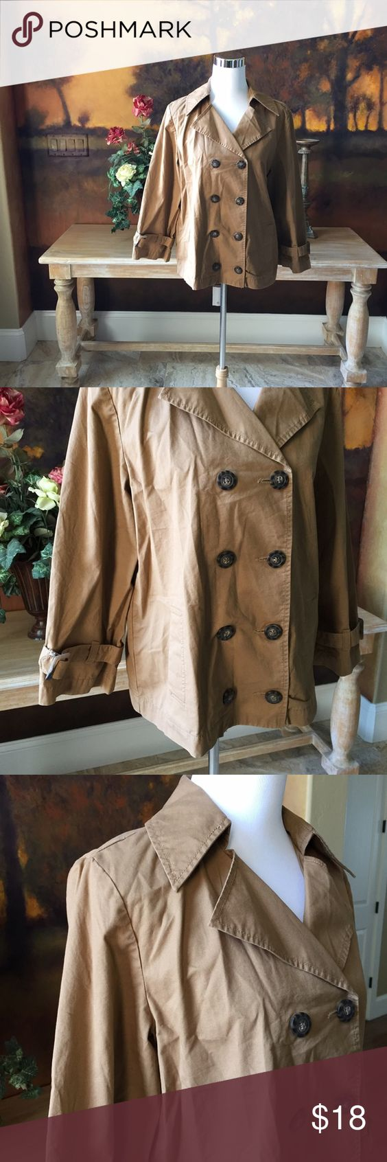 Jacket by Old Navy Tan lite weight material jacket in excellent condition. Like new, no rips or stains. Old Navy Jackets & Coats