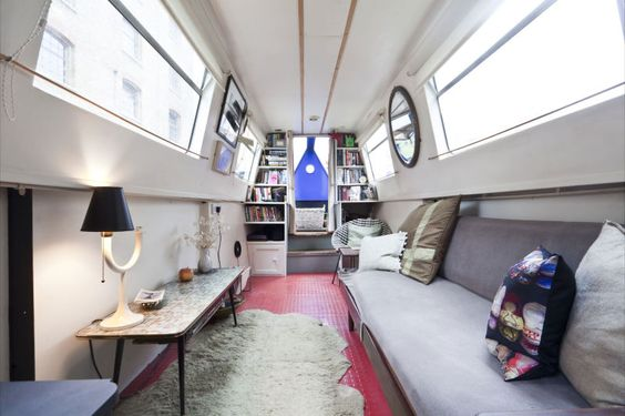 narrowboat houseboat interior design