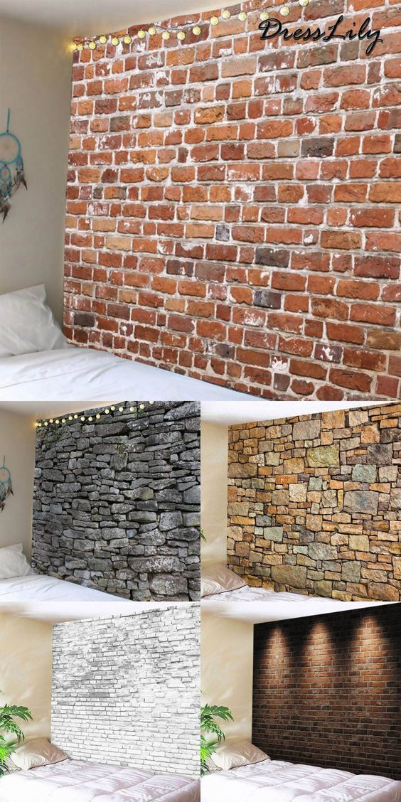 65 Unique Wall Covering Ideas Detectview Brick Exterior House Faux Decor