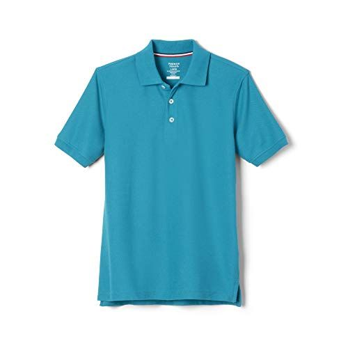 M 8 French Toast Boys Short Sleeve Polo Light Blue 2-pack
