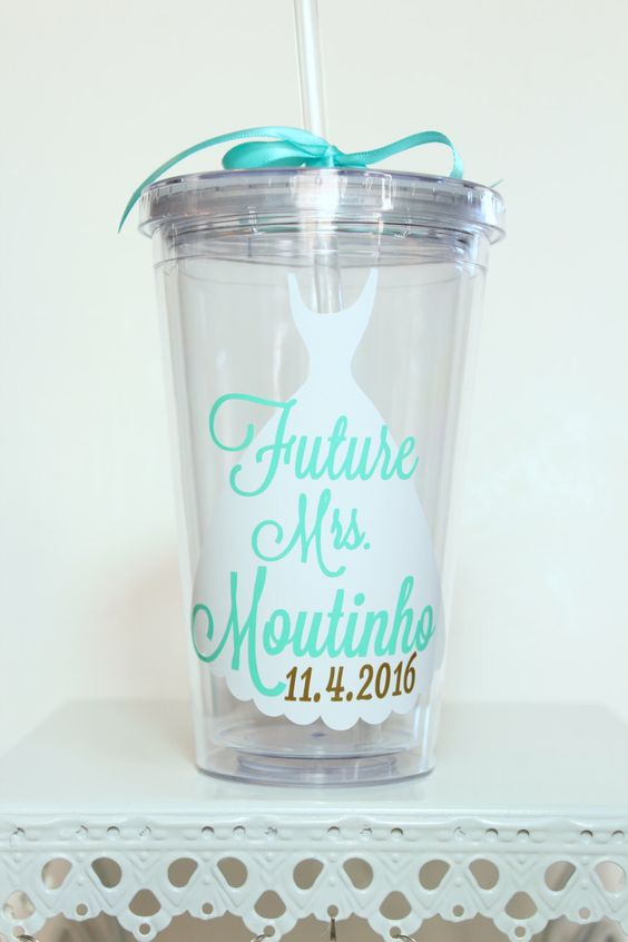 A personal favorite from my Etsy shop https://www.etsy.com/listing/265878465/bride-tumbler-future-mrs-bride-to-be