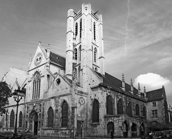 Paris III - Église Saint-Nicolas-des-Champs : vue générale du sud-ouest