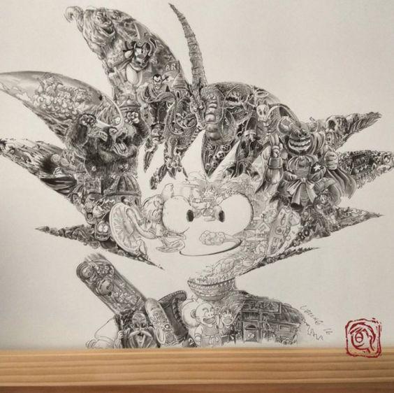 L'illustrateur Ah Leung, basé à Hong Kong, vient de rendre un fantastique hommage à l'une des bandes dessinées japonaises (mangas) les plus emblématiques d
