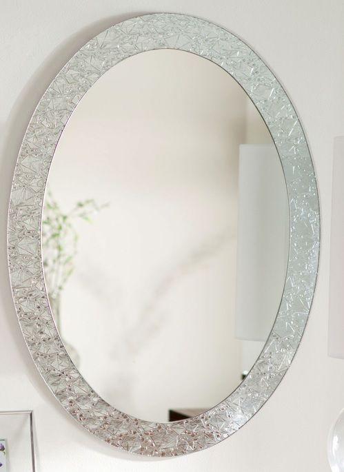 Vanity Mirror Crystal Frame Bling Mirror Crystal Decor Oval