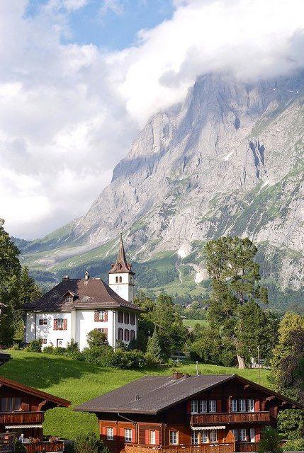 Lovely scenery in Grindelwald, Bern Canton, Switzerland.