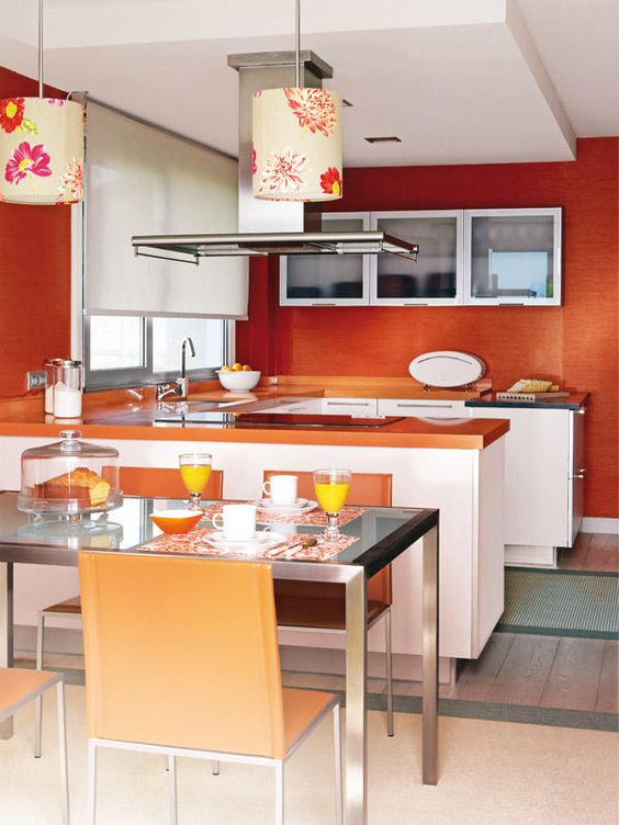Cocinas con comedor integrado awesome studios and kitchens for Decorar vitrina de comedor