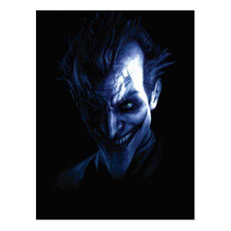 Batman Arkham Asylum The Joker In Shadow Postcard Zazzle Com With Images Arkham Asylum Batman Joker